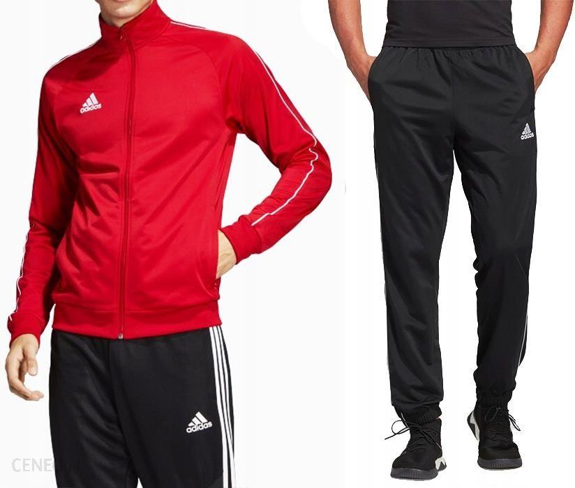 Adidas Dres Kompletny Męski Spodnie Bluza Red XL Ceny i opinie Ceneo.pl