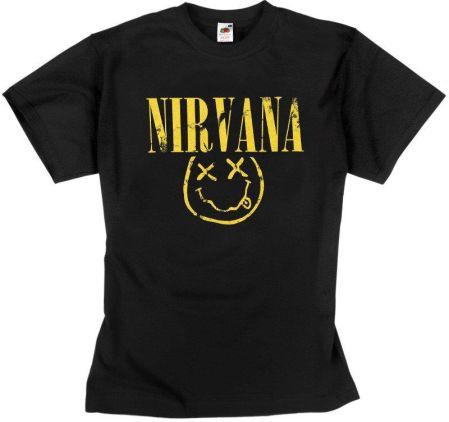 KOSZULKA NIRVANA - SMILEY - Ceny i opinie T-shirty i koszulki męskie LAJU