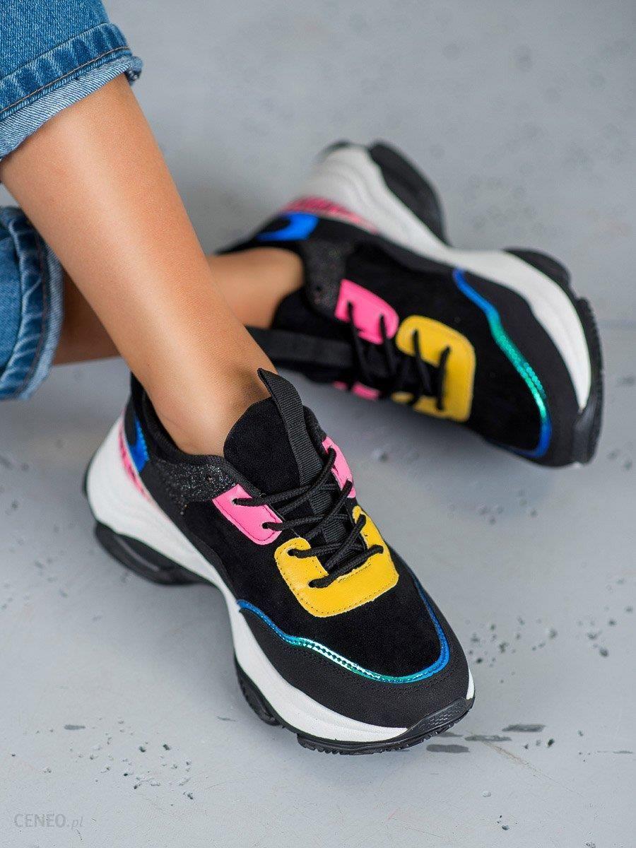 SHELOVET Buty Sportowe Na Platformie czarne | Buty, Buty