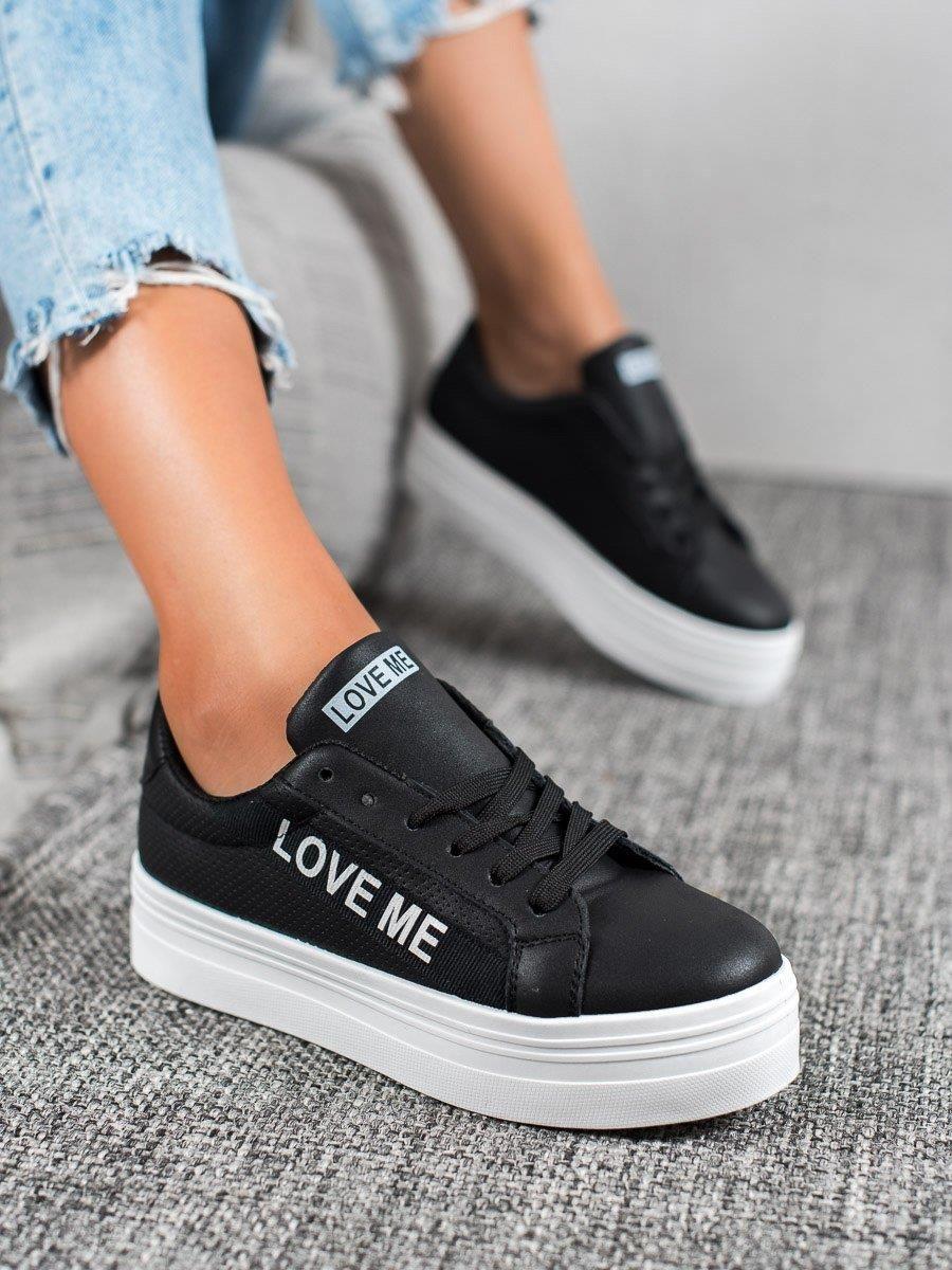 buty adidas neo na koturnie dla dziewczyn vzarne