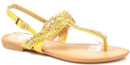 Złote sandały z rzemykami i złotymi aplikacjami UCRIA Ceny