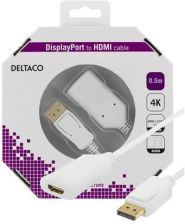 DELTACO DisplayPort to HDMI cable active 4K at 6