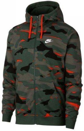 Nike Sportswear Club Camo Spodnie FT Khaki Odziez meska