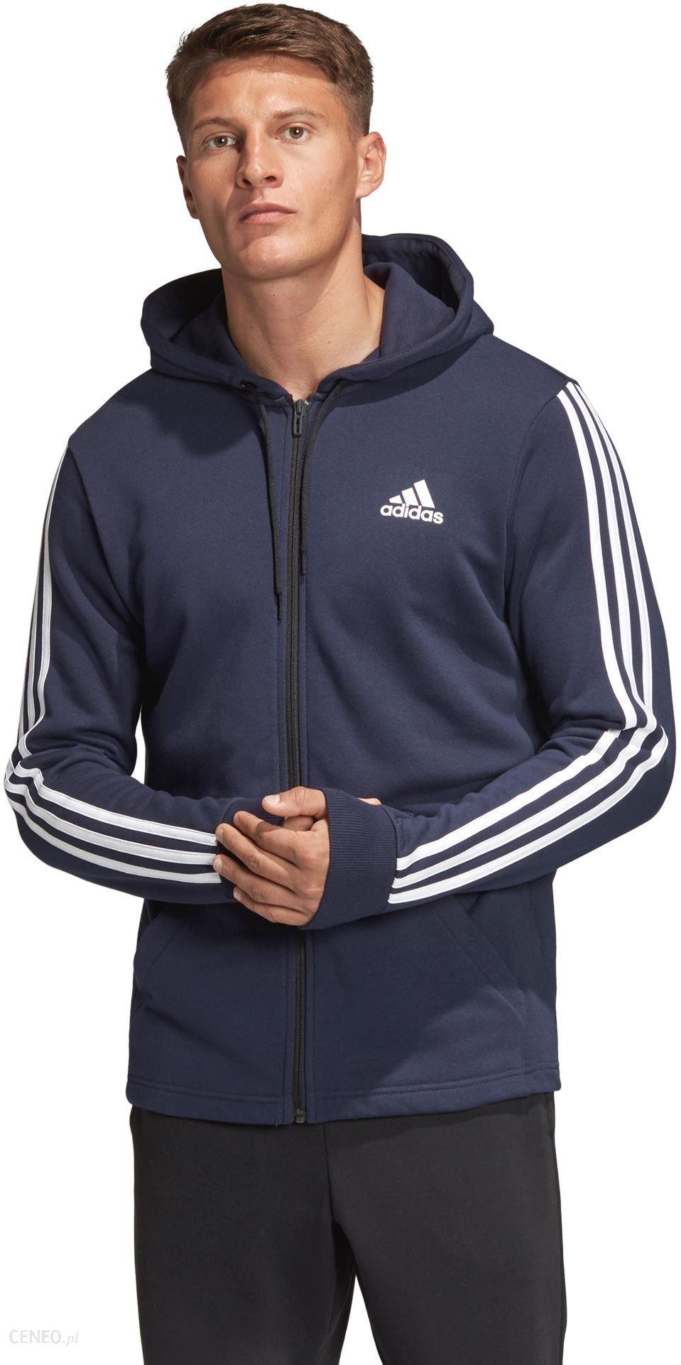 Adidas Performance Must Haves 3 Stripes Bluza Niebieski L Ceny i opinie Ceneo.pl