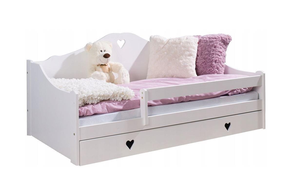 meble dla dzieci lulu Łóżko dziecięce zosia + materac białe 160x80cm