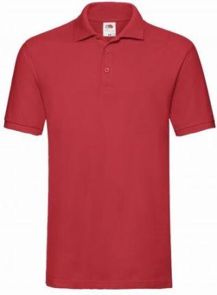 Męskie Polo Fruit of the loom - Premium 63218- Red/czerwone - Ceny i opinie T-shirty i koszulki męskie QDXO