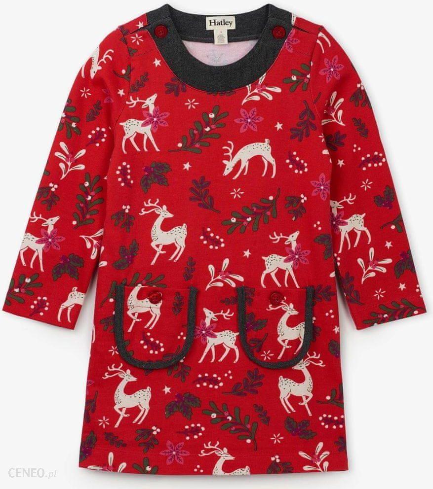 Hatley sukienka dziewczęca 134140 czerwony Ceny i opinie Ceneo.pl