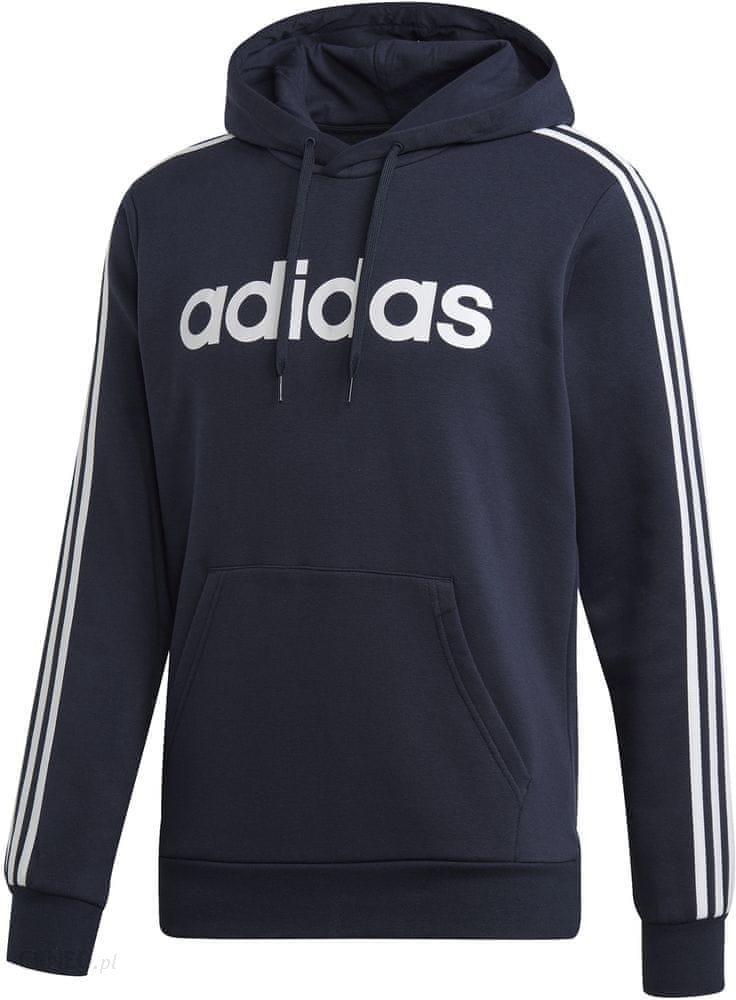 Adidas Adidas 3 Stripes, bluza z kapturem, czarna, Rozmiar XXXL