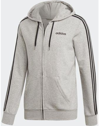 Bluza męska adidas Essentials 3 Stripes Crew FT czarna DQ3083