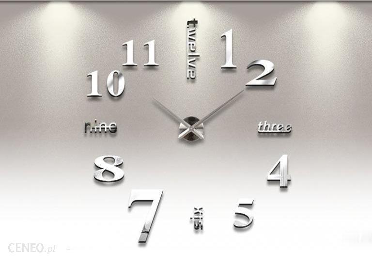 Creativehome Ogromny Zegar Ścienny Efekt 3D Naklejany
