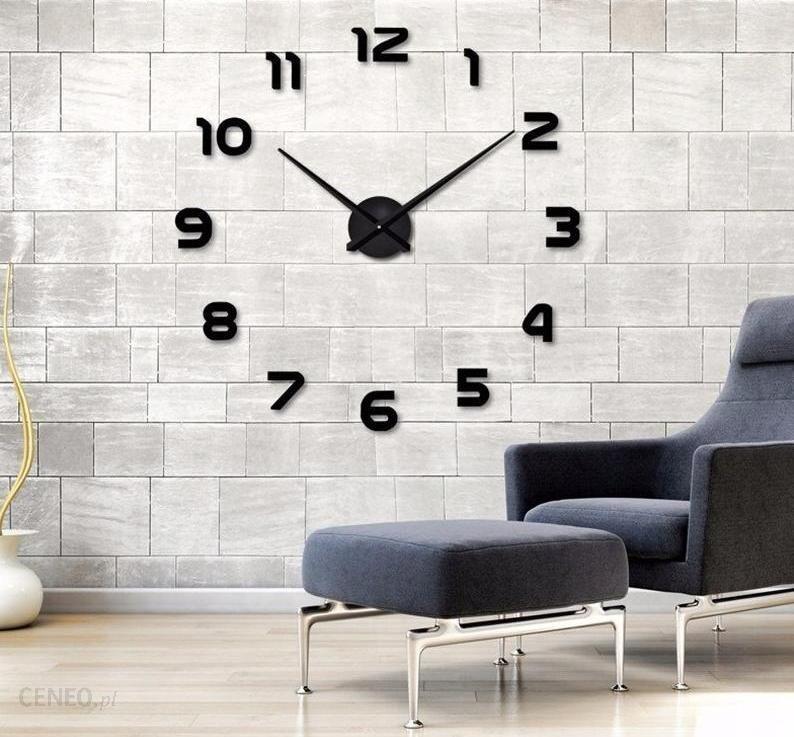 Creativehome Ogromny Zegar Ścienny 3 W 2 Kolorach Do Wyboru