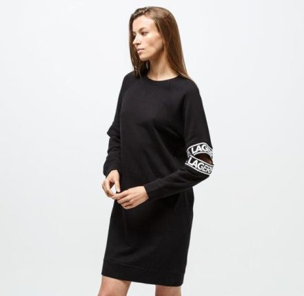 KARL LAGERFELD SUKIENKA CUT OUT SLEEVE SWEAT DRESS