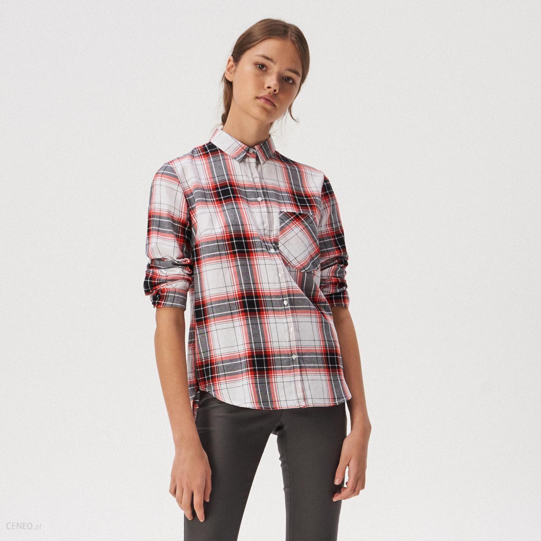 Sinsay Bawełniana koszula w kratę Wielobarwny Ceny i  BqIX5