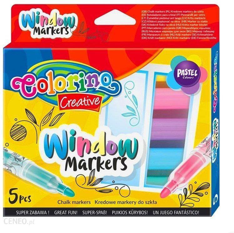 Patio Colorino Kredowe Markery Do Szkła 5 Kolorów 39637