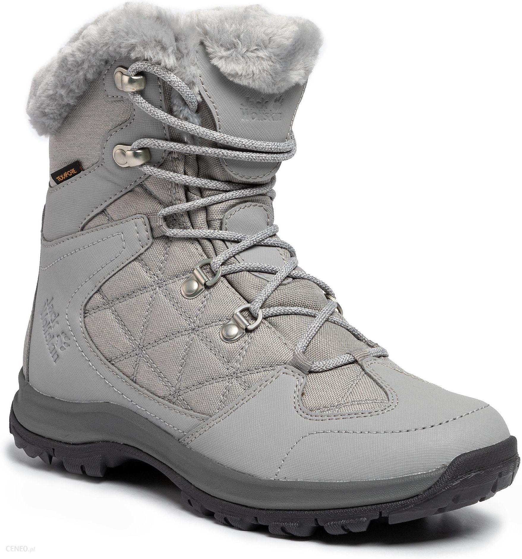 Śniegowce JACK WOLFSKIN Thunder Bay Texapore Mid W 4020532 6125040 Light GreyGrey