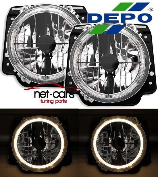 Lampa Przednia Lampy Reflektory Vw Golf 2 Angel Eyes Krzyz Black Dp0321 Opinie I Ceny Na Ceneo Pl