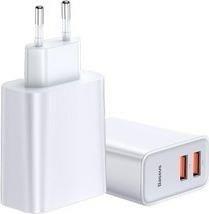Ładowarka do telefonu Baseus Szybka sieciowa 2x USB QC 3.0