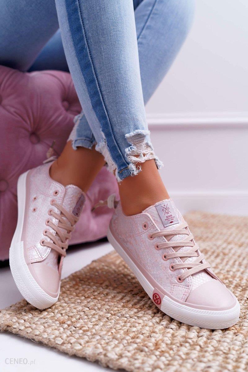 Trampki Damskie Cross Jeans Różowe DD2R4058