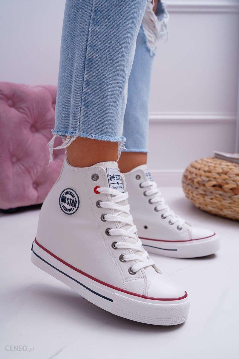 Sneakersy Damskie Big Star Białe EE274616 Ceny i opinie Ceneo.pl