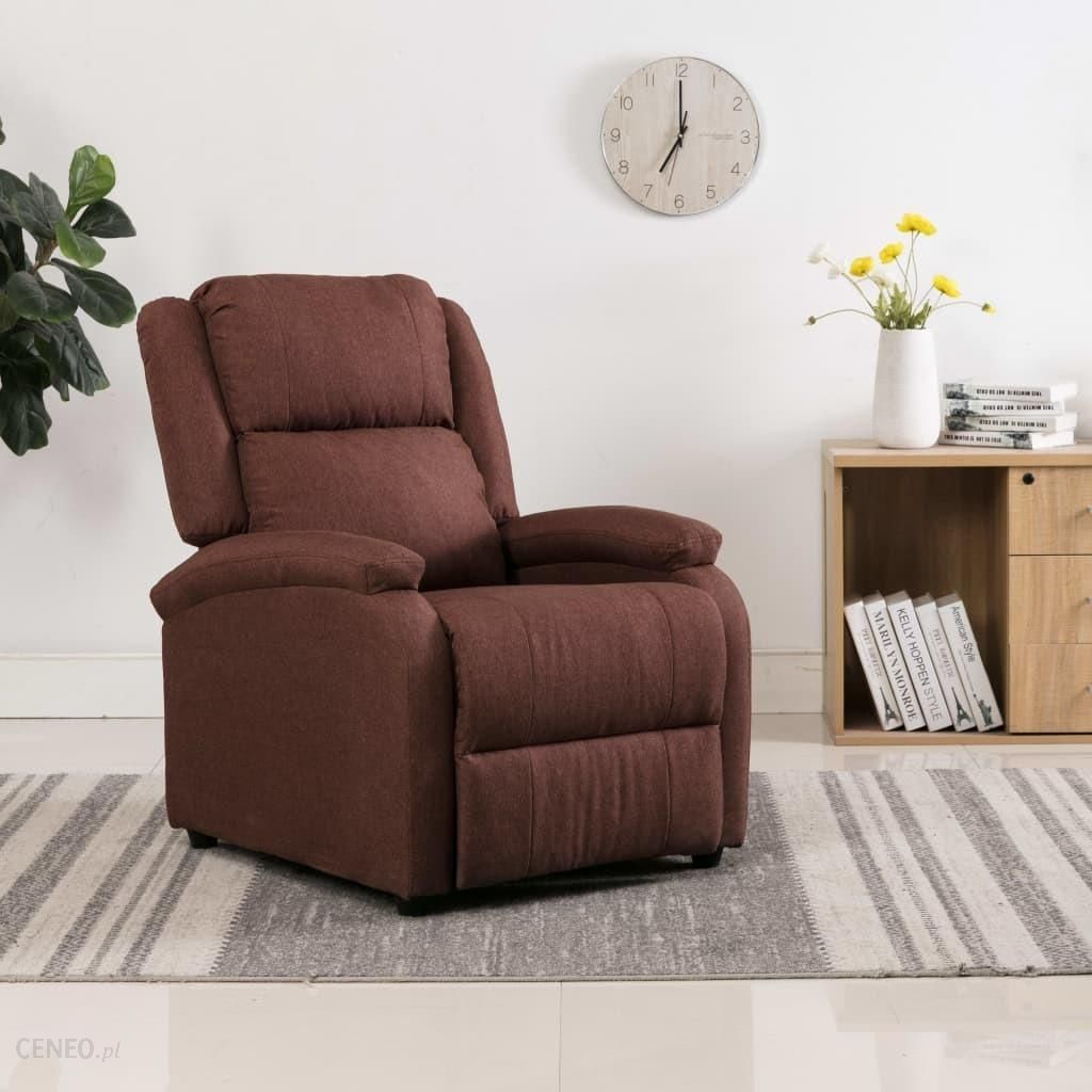 Išskleidžiamas televizoriaus fotelis, rudas, aptrauktas audiniu