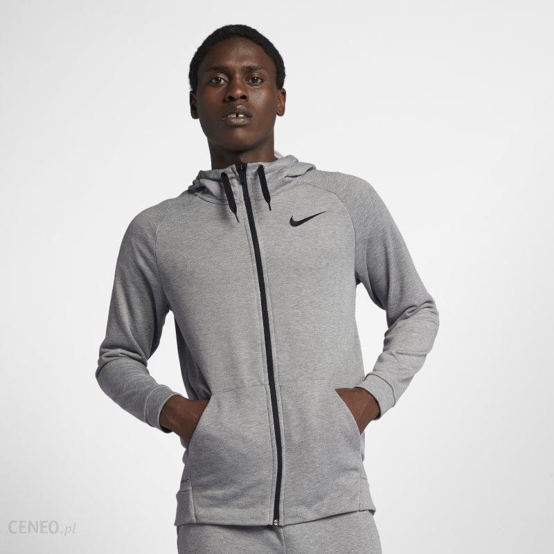 Nike Męska bluza treningowa z kapturem i zamkiem na całej długości Nike Dri FIT Szary Ceny i opinie Ceneo.pl
