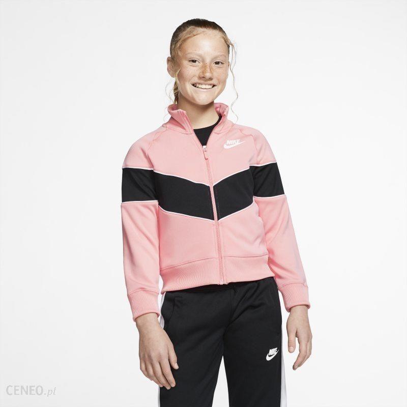 nike sportswear heritage bluza white pink
