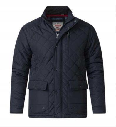 pikowana czarna męska kurtka 4xl