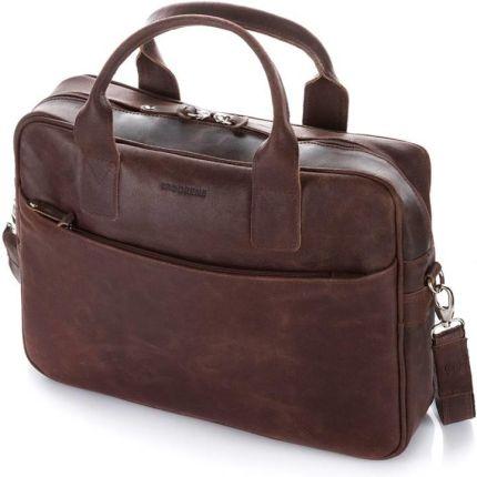 Męska torba na ramię ze skóry naturalnej na laptop brodrene