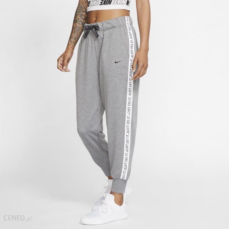 Nike Damskie spodnie treningowe z dzianiny 78 Nike Dri FIT Get Fit Szary Ceny i opinie Ceneo.pl
