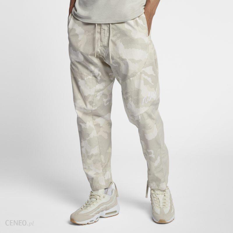 Nike Tkane męskie spodnie typu jogger z wzorem moro Nike Sportswear NSW Biel Ceny i opinie Ceneo.pl