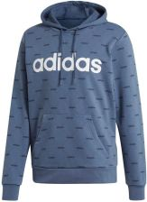 Bluza męska Essentials 3 Stripes Fleece Adidas (ciemny szary)