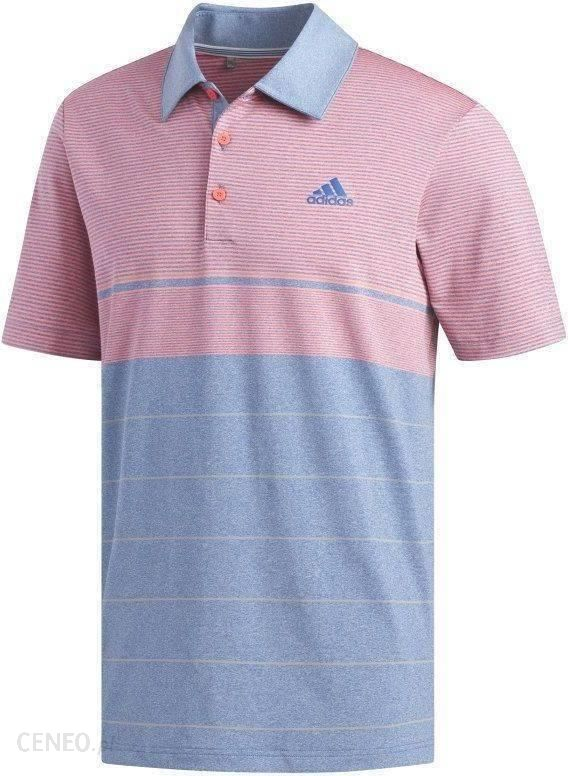 Adidas Ultimate365 Heathered Stripe Koszulka Polo Do Golfa Męska Dark MarineGrey XL
