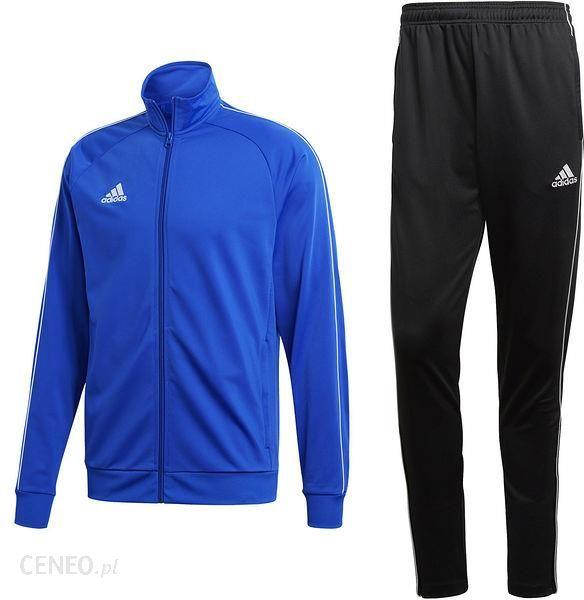 przybywa największa zniżka nowy autentyczny Komplet dresowy męski Core 18 Adidas (niebiesko-czarny)