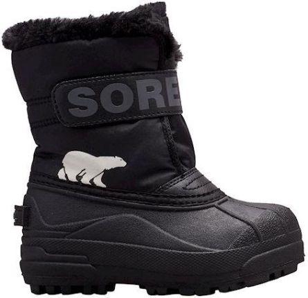 adidas Performance Buty dziecięce RapidaSnow K Śniegowce chłopięce granatowe w