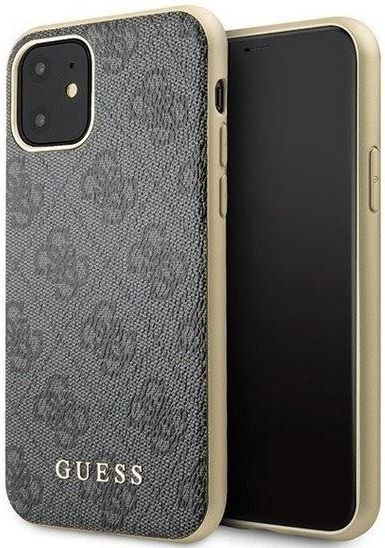 Guess GUHCN61G4GG iPhone 11 szarygrey hard case 4G Collection Szary
