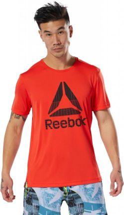 Koszulka Reebok T shirt BK3339 Czerwony R. L Ceny i opinie