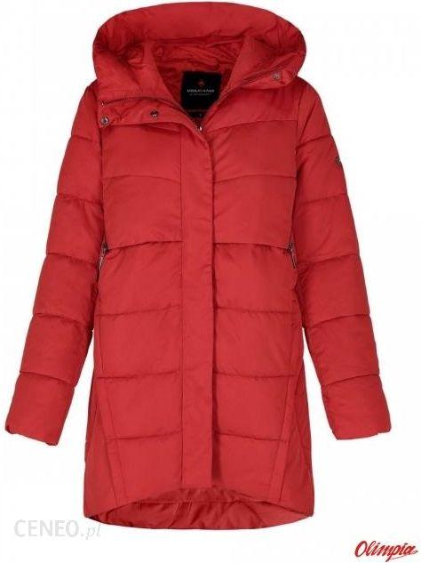 Płaszcz z kapturem Volcano J VELMA Czerwony
