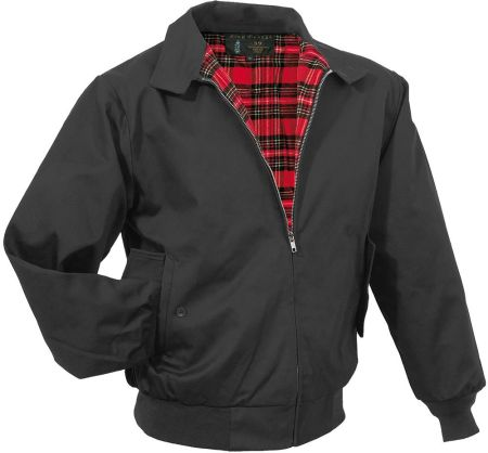 KURTKA ENGLISH Style Harrington Wełna GRANAT XS