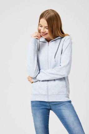 calvin klein jeans bluza howard szare bluzy rozpinane damskie