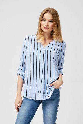 Koszula kopertowa w paski niebieska Ceny i opinie Ceneo.pl  nisS4
