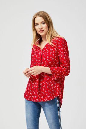 MOODO Koszula z nadrukiem czerwony Ceny i opinie  tDaqf