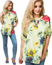 włoskie koszule damskie kwiaty