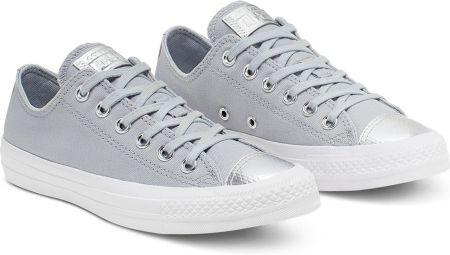 Srebrne trampki i tenisówki Converse, kolekcja wiosna 2019