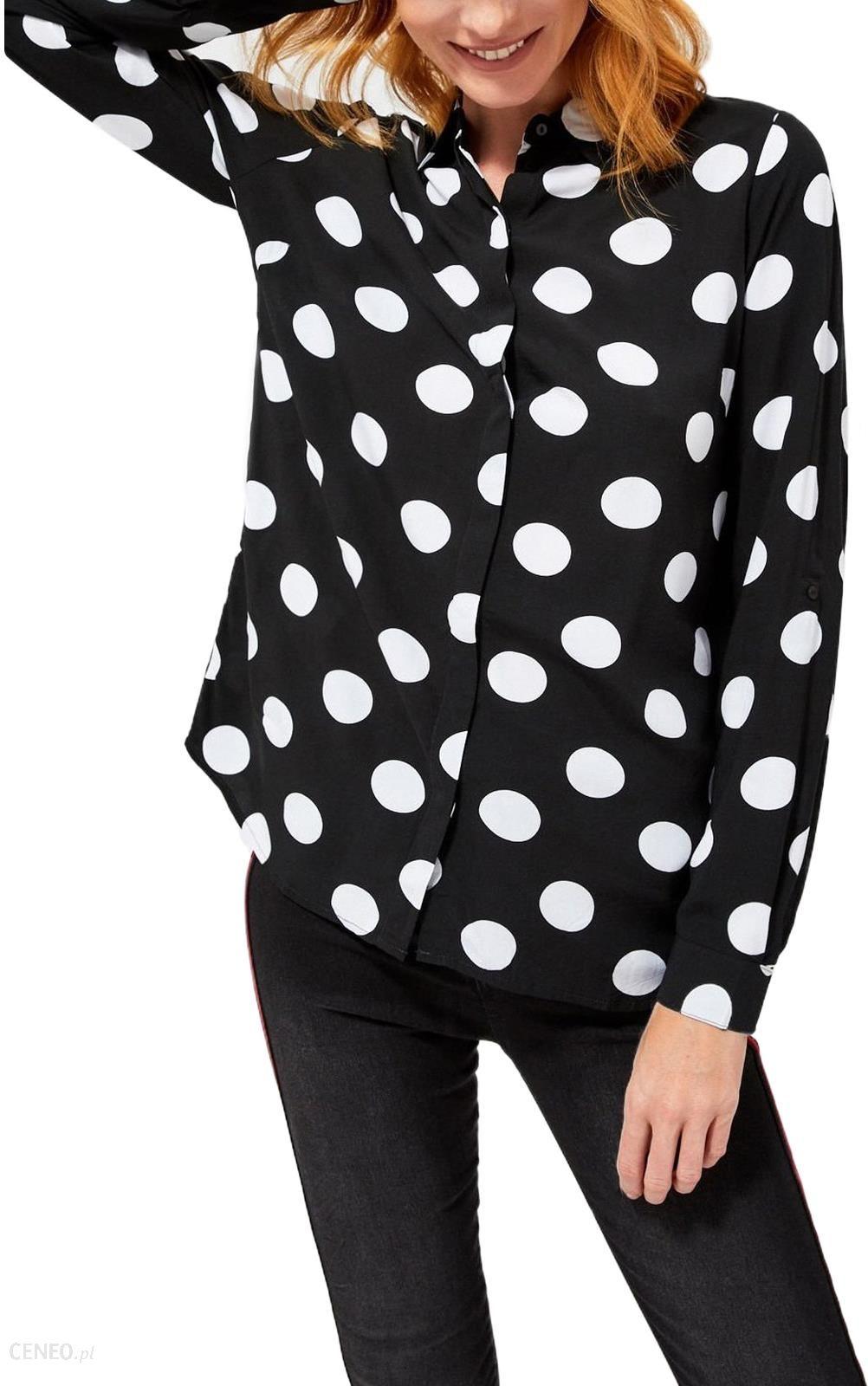 Moodo czarna koszula w groszki L Ceny i opinie Ceneo.pl  px2lo