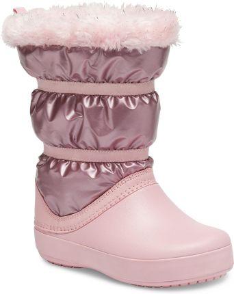 Pantofelek24 Ażurowe kozaki z suwakiem dla dziewczynki KHAKI