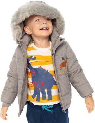 coccodrillo zimowa kurtka chlopieca szara wzorek