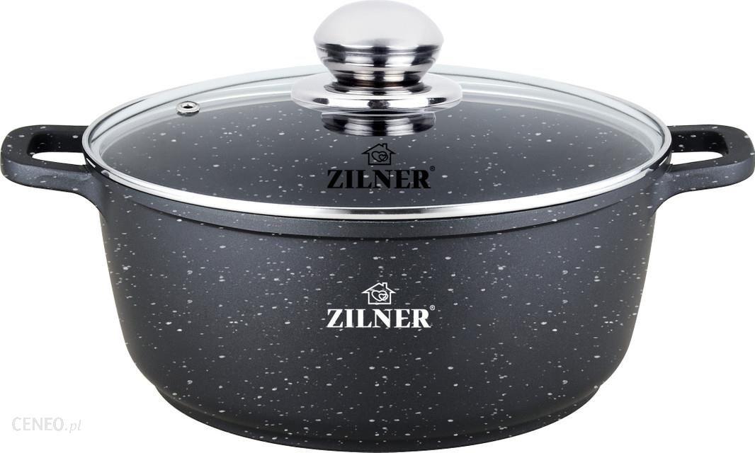 """Zilner Pot"" juodas marmuras 1.3L 16Cm 7004"
