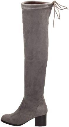 Szare zamszowe kozaki za kolano VICES T060 5 Ceny i opinie