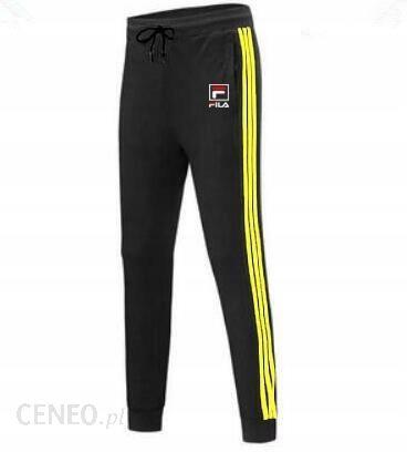 Męskie długie spodnie dresowe Fila Czarno żółty L Ceny i
