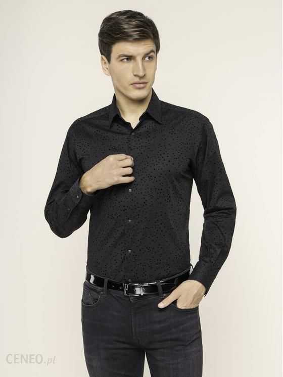 Koszula Karl Lagerfeld Koszule eleganckie męskie czarne